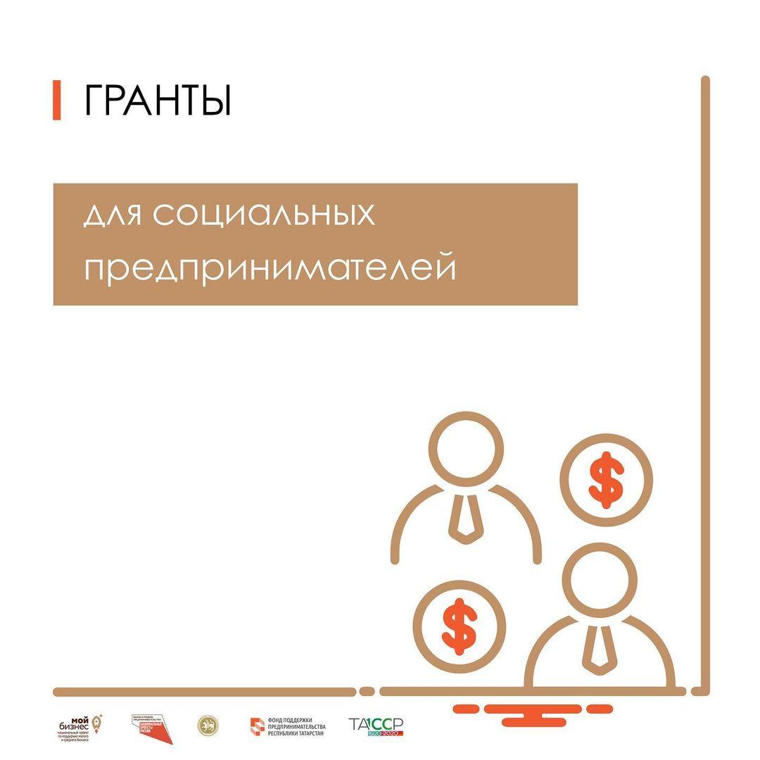 Сумма грантов для социальных предпринимателей Татарстана на условиях софинансирования составит до 500 000₽.